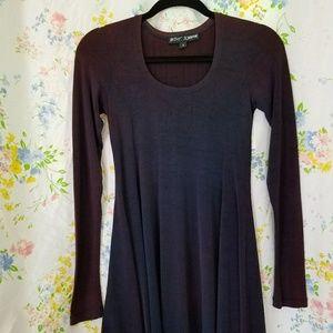 Betsey Johnson blue gradient long sleeve dress